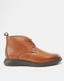 Paul of London Lace Up Boots Tan