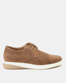 Paul of London  Perforated Lace Up Shoes Tan