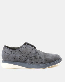 Paul of London  Perforated Lace Up Shoes Blue
