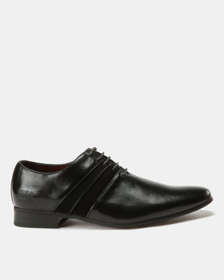 7ee142012cf Paul of London Formal Fabric Combo Lace Up Shoes Black