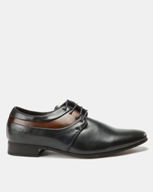 Paul of London Formal Combo Lace Up Shoes Navy/Tan