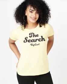 Rip Curl Keep Searching Tee Yellow