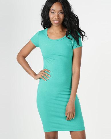 Utopia Kelly Midi T-Shirt Dress Green