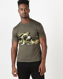 Utopia Colourblock Camo Tee Khaki