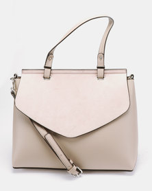 New Look Roxie Minimal Satchel Bag Nude