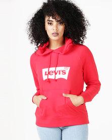 Levi's ® Graphic Sweatshirt Hoodie Red
