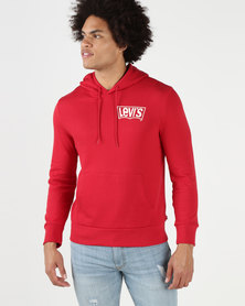 Levi's® Graphic Pullover Hoodie Logo Backprint Crimson