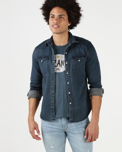 Levi's® Classic Western Shirt Shadow Tint Dark Takedown