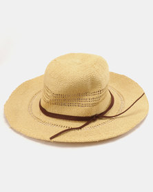 Rip Curl Ritual Short Brim Boho Hat Natural