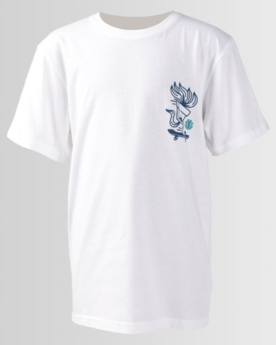Element Boys Roots Short Sleeve Tee White