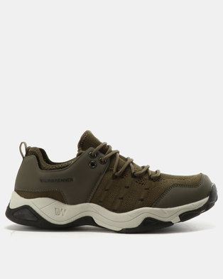 Weinbrenner Casual Lace Ups Olive