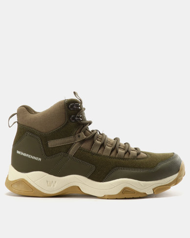 ff202bc37dd64b Weinbrenner Casual Lace Up Boots Olive Green   Zando