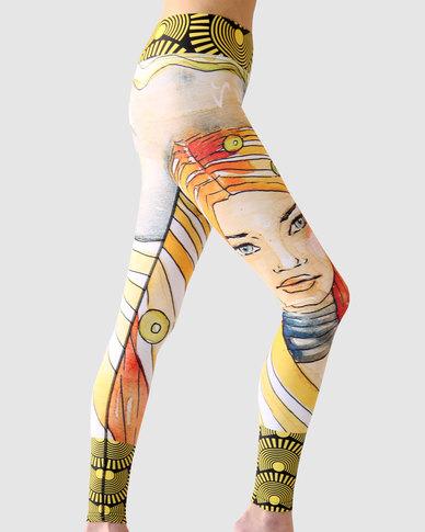 Vivolicious Elements Performance Tech Tights Leggings Yellow