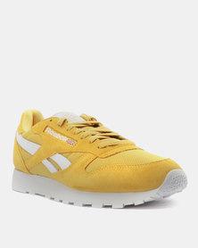 Reebok CL Leather MU Fierce Sneakers Gold/White