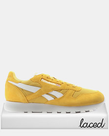 Reebok CL Leather MU Fierce Sneakers Gold/White