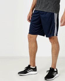 adidas Performance D2M 3S Shorts Navy/White