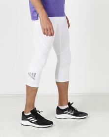 adidas Performance Alphakin SPR Tights 34 White