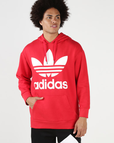 68b0174063 adidas Originals Men's Oversized Hoodie Red/White