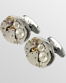 Skone Watch Movement Cufflinks Silver