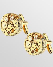 Skone Watch Movement Cufflinks Gold