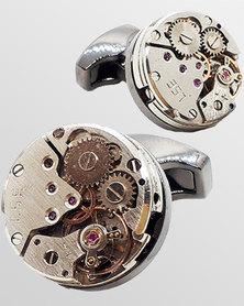 Skone Watch Movement Cufflinks Gunmetal