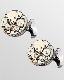 Skone Retro Watch Movement Cufflinks Gunmetal