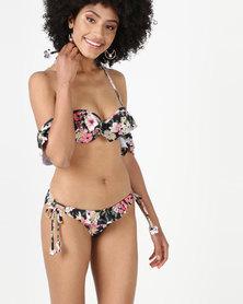 Sissy Boy Tied Side Bikini Bottom Floral Print