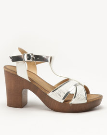 Franco Ceccato T Bar Platform On Block Heels White