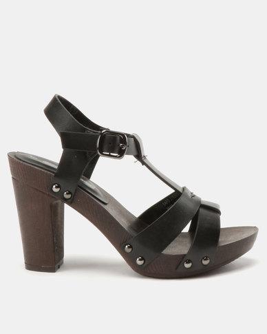 Franco Ceccato T Bar Sandals On Wooden Unit Black