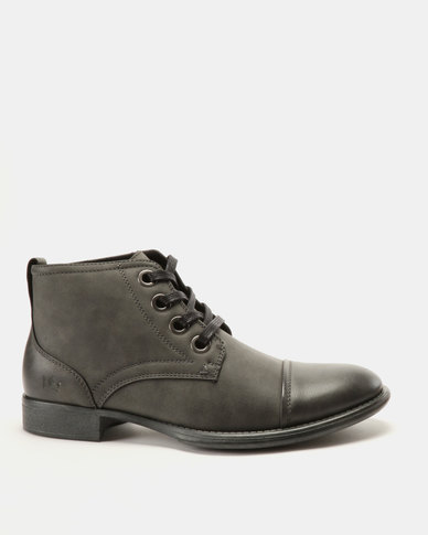 Franco Ceccato Fashion Lace Up Boots Grey