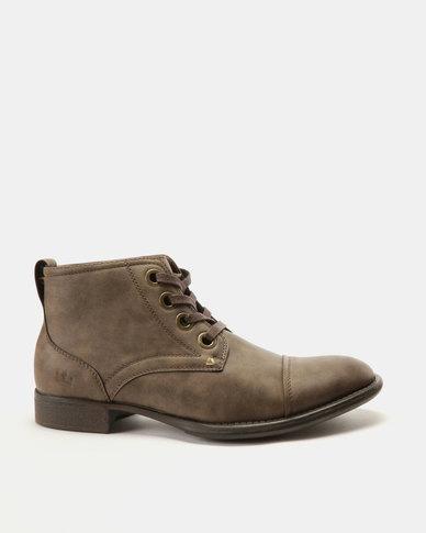 Franco Ceccato Fashion Lace Up Boots Brown