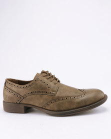 Franco Ceccato Fashion Gibson Brogues Extended Khaki