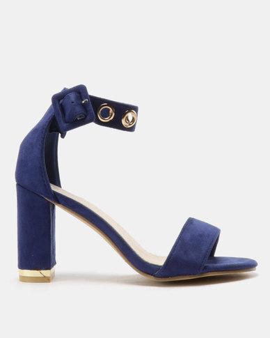 082aeb55a98 Urban Zone Ringlet Ankle Strap Heels Royal Blue M F