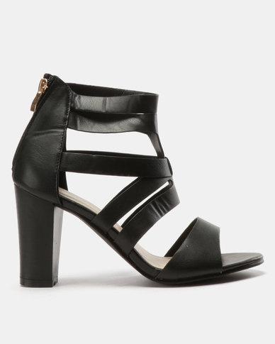 9c6df32ba32 Urban Zone Multi Strap Heels Black