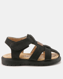 Bratz Velcro Toe Bumper Sandals Black