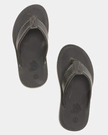 Carlo Bossi PU Thong Sandals Black