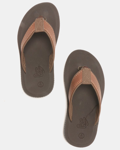 2f96290d1122 Carlo Bossi PU Thong Sandals Brown