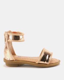 Bratz Ankle Strap Sandals Rose Gold