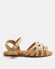 Candy Stud Detail Sandals Beige