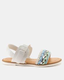 Candy Plaited Detail Sandal White