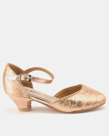 Candy Heeled Courts Rose Gold