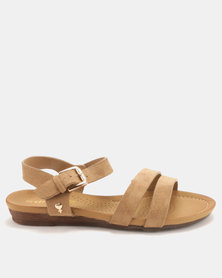 Dr Hart Barbara Sandals Khaki