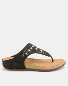Dr Hart Marilyn Sandals Black