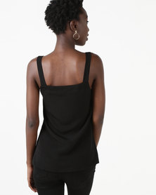 Utopia Button Through Cami Black