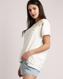 Roxy Cruz Life B T-Shirt Marshmallow