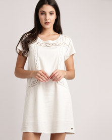 Roxy Wildflower Land Dress Marshmallow