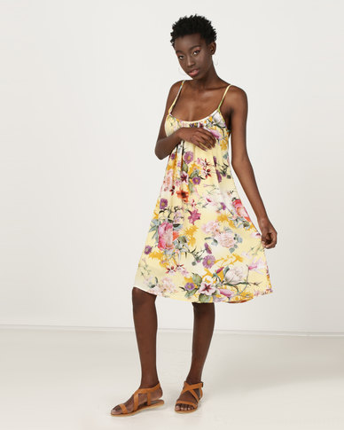 Utopia A-line Dress Yellow Floral