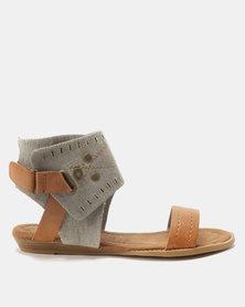 Bronx Women Abbie Sandals Khaki