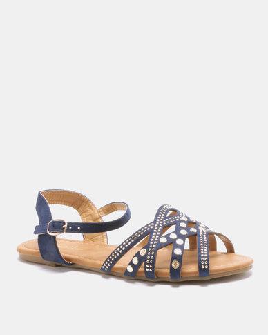 Solle Ankle Strap Sandal Blue