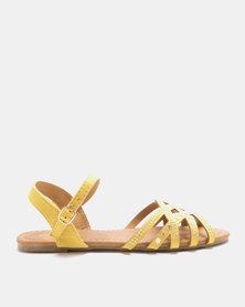Solle Ankle Strap Sandals Mustard